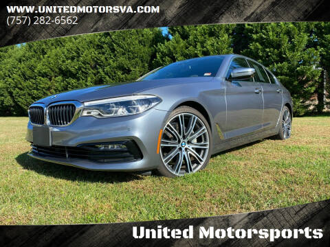 2017 BMW 5 Series for sale at United Motorsports in Virginia Beach VA