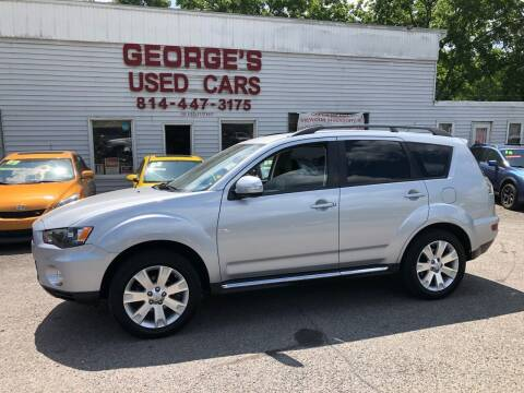 2013 Mitsubishi Outlander for sale at George's Used Cars Inc in Orbisonia PA