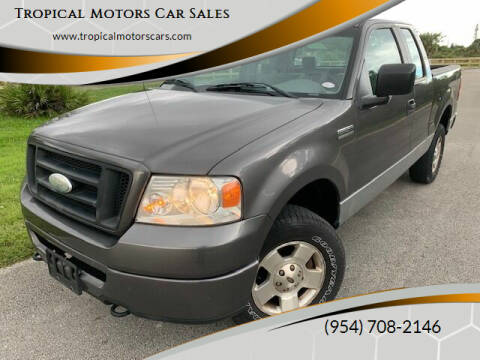 2007 Ford F-150 for sale at Tropical Motors Car Sales in Deerfield Beach FL