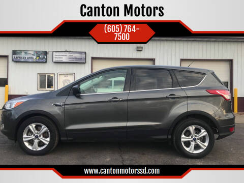 2016 Ford Escape for sale at Canton Motors in Canton SD
