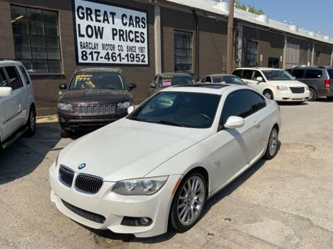 2012 BMW 3 Series for sale at BARCLAY MOTOR COMPANY in Arlington TX