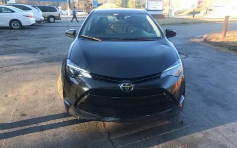 2017 Toyota Corolla for sale at BRAVA AUTO BROKERS LLC in Clarkston GA