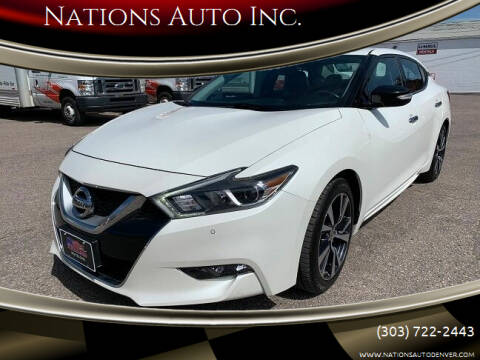 2017 Nissan Maxima for sale at Nations Auto Inc. in Denver CO