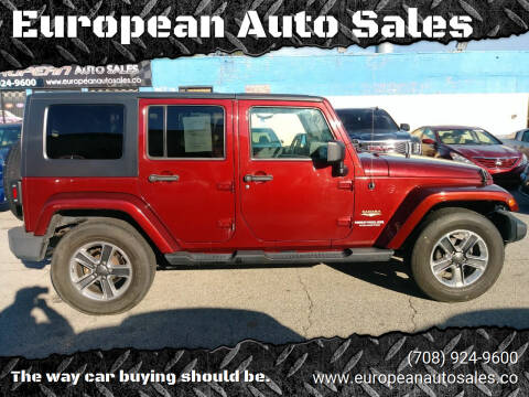 2009 Jeep Wrangler Unlimited for sale at European Auto Sales in Bridgeview IL