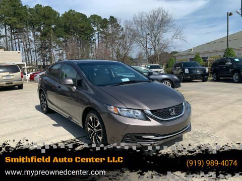 2013 Honda Civic for sale at Smithfield Auto Center LLC in Smithfield NC