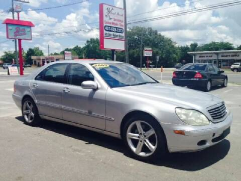 2002 Mercedes-Benz S for sale at WHEEL UNIK AUTOMOTIVE & ACCESSORIES INC in Orlando FL