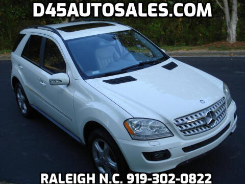 2008 Mercedes-Benz M-Class for sale at D45 Auto Brokers in Raleigh NC