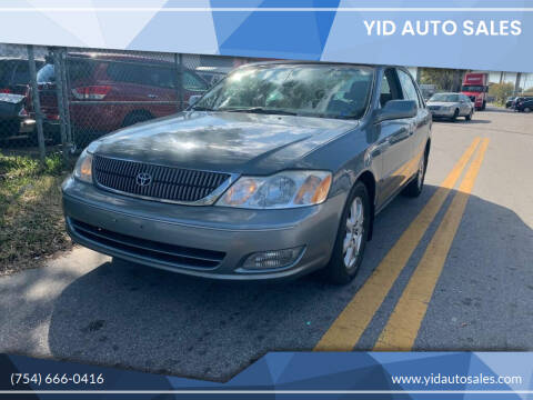 2001 Toyota Avalon for sale at YID Auto Sales in Hollywood FL