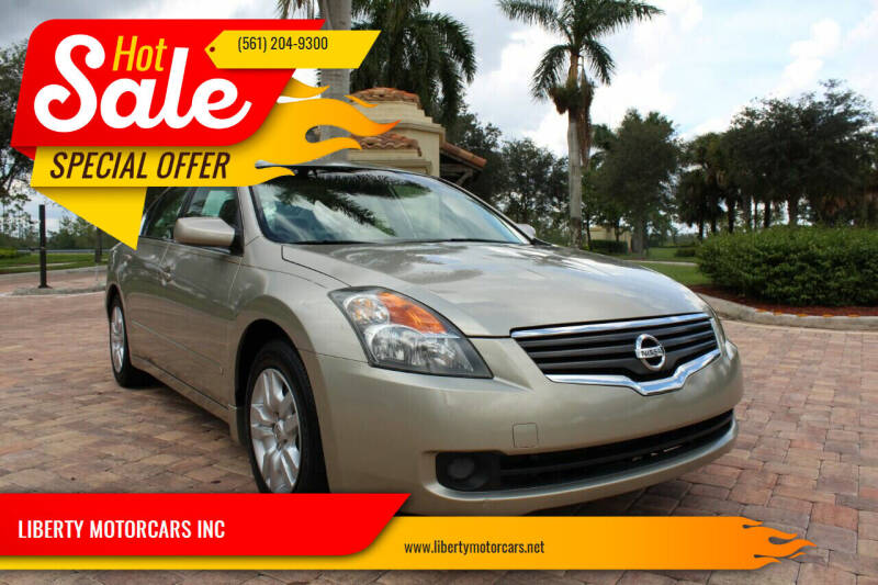 2009 Nissan Altima for sale at LIBERTY MOTORCARS INC in Royal Palm Beach FL