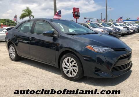 2017 Toyota Corolla for sale at AUTO CLUB OF MIAMI, INC in Miami FL