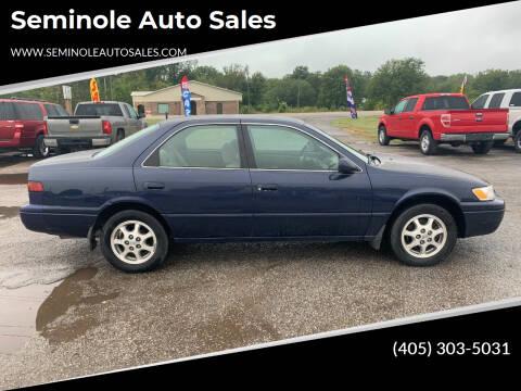 1997 Toyota Camry for sale at Seminole Auto Sales in Seminole OK