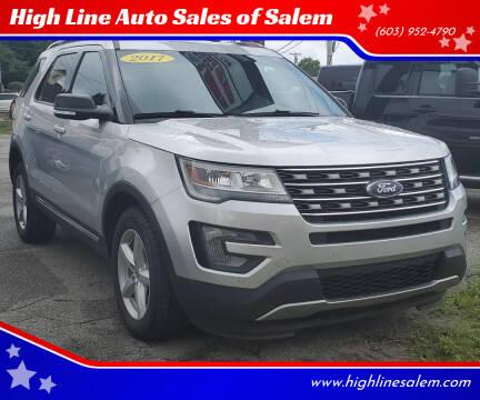 2017 Ford Explorer for sale at High Line Auto Sales of Salem in Salem NH