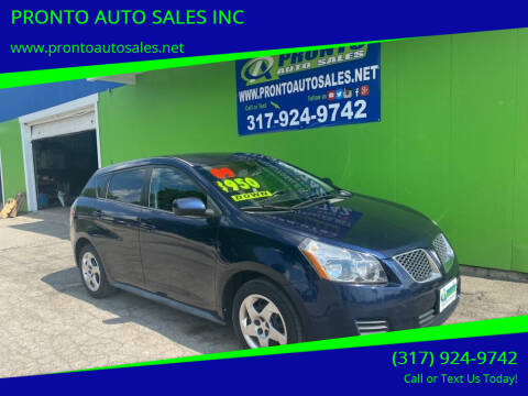 2009 Pontiac Vibe for sale at PRONTO AUTO SALES INC in Indianapolis IN