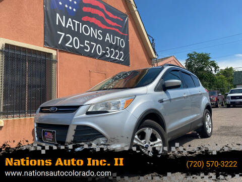 2013 Ford Escape for sale at Nations Auto Inc. II in Denver CO