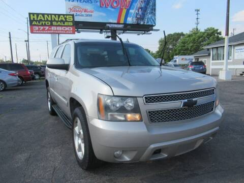 2007 Chevrolet Tahoe for sale at Hanna's Auto Sales in Indianapolis IN