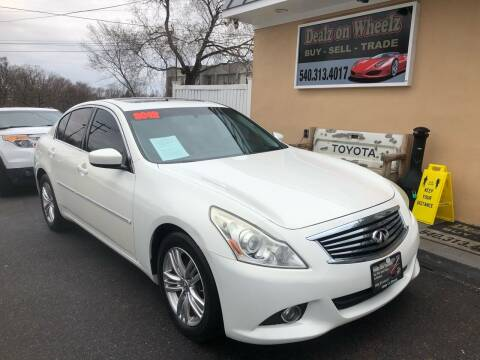 2012 Infiniti G37 Sedan for sale at DEALZ ON WHEELZ in Winchester VA