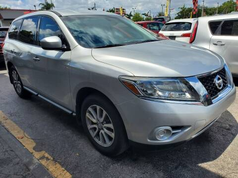 2015 Nissan Pathfinder for sale at America Auto Wholesale Inc in Miami FL