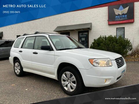 2008 Subaru Forester for sale at METRO AUTO SALES LLC in Blaine MN