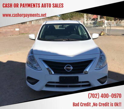 2019 Nissan Versa for sale at CASH OR PAYMENTS AUTO SALES in Las Vegas NV