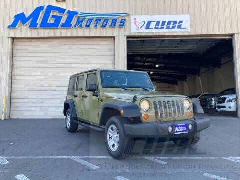 2013 Jeep Wrangler Unlimited for sale at MGI Motors in Sacramento CA