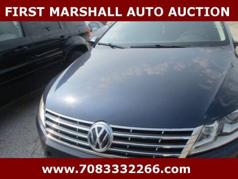 2013 Volkswagen CC for sale at First Marshall Auto Auction in Harvey IL