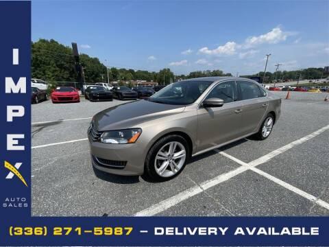 2015 Volkswagen Passat for sale at Impex Auto Sales in Greensboro NC