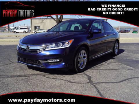 2016 Honda Accord for sale at Payday Motors in Wichita And Topeka KS