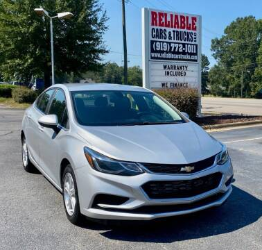 2017 Chevrolet Cruze for sale at Reliable Cars & Trucks LLC in Raleigh NC