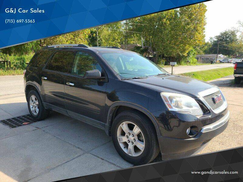 2012 GMC Acadia for sale at G&J Car Sales in Houston TX