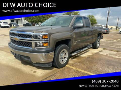 2015 Chevrolet Silverado 1500 for sale at DFW AUTO CHOICE in Dallas TX