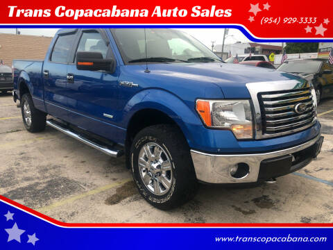 2012 Ford F-150 for sale at Trans Copacabana Auto Sales in Hollywood FL