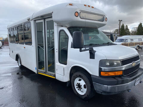 2012 Chevrolet C4500 Shuttle Van wheel chair for sale at Dorn Brothers Truck and Auto Sales in Salem OR