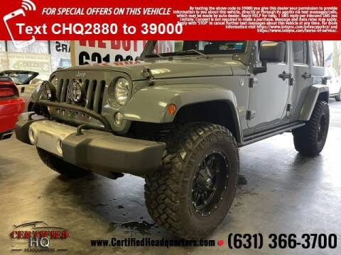2015 Jeep Wrangler Unlimited for sale at CERTIFIED HEADQUARTERS in St James NY