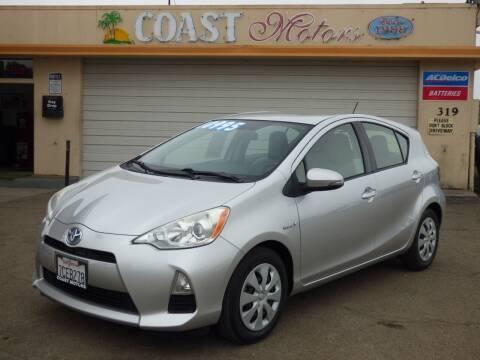 2013 Toyota Prius c for sale at Coast Motors in Arroyo Grande CA