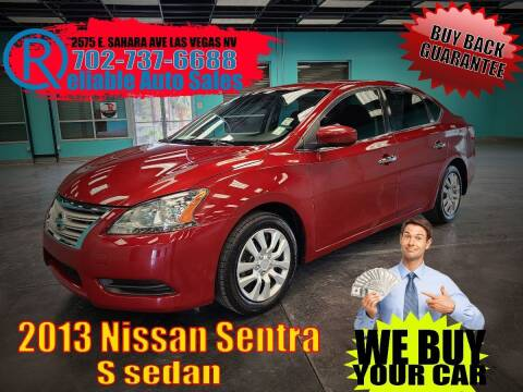 2013 Nissan Sentra for sale at Reliable Auto Sales in Las Vegas NV