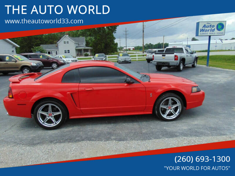 2001 Ford Mustang SVT Cobra for sale at THE AUTO WORLD in Churubusco IN