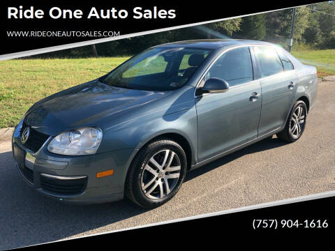 2006 Volkswagen Jetta for sale at Ride One Auto Sales in Norfolk VA