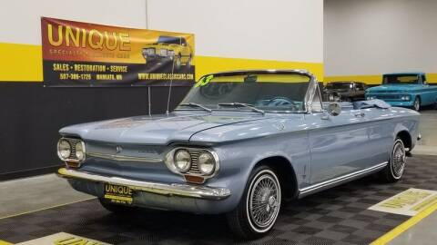 1963 Chevrolet Corvair for sale at UNIQUE SPECIALTY & CLASSICS in Mankato MN
