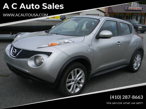 2012 Nissan JUKE for sale at A C Auto Sales in Elkton MD