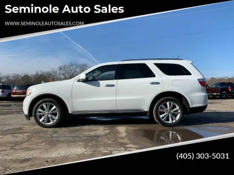 2013 Dodge Durango for sale at Seminole Auto Sales in Seminole OK