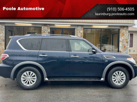 2019 Nissan Armada for sale at Poole Automotive in Laurinburg NC