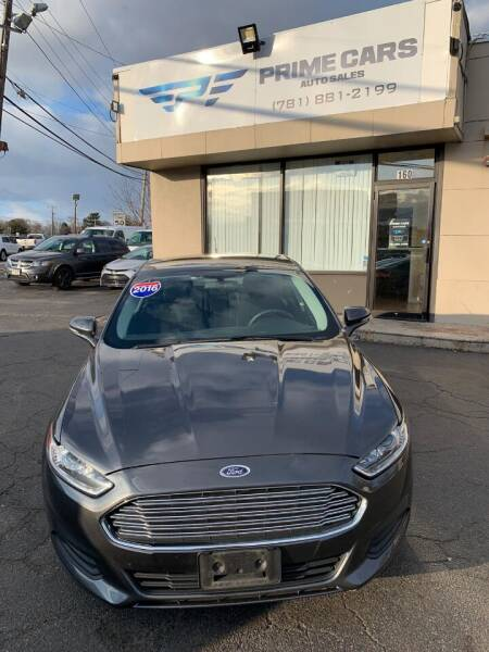 2016 Ford Fusion Hybrid for sale at Prime Cars Auto Sales in Saugus MA