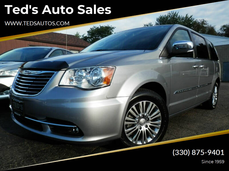 2014 Chrysler Town and Country for sale at Ted's Auto Sales in Louisville OH