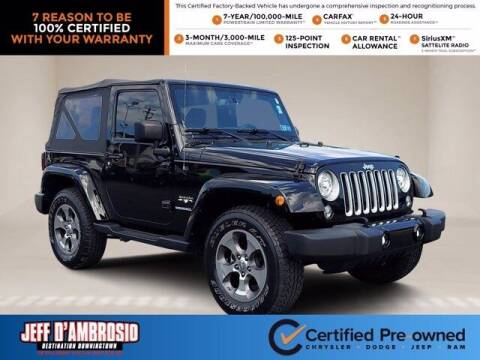 2017 Jeep Wrangler for sale at Jeff D'Ambrosio Auto Group in Downingtown PA