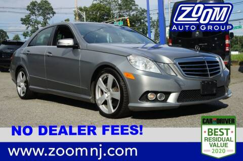 2010 Mercedes-Benz E-Class for sale at Zoom Auto Group in Parsippany NJ