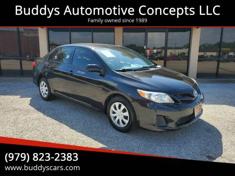 2013 Toyota Corolla for sale at Buddys Automotive Concepts LLC in Bryan TX