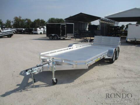 2022 Aluma Car Hauler 7818TA-EL-BT-TR-RTD for sale at Rondo Truck & Trailer in Sycamore IL