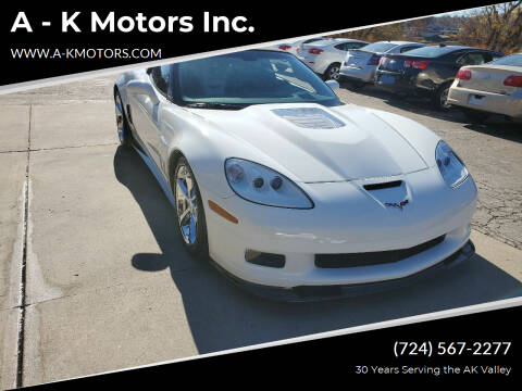 2010 Chevrolet Corvette for sale at A - K Motors Inc. in Vandergrift PA