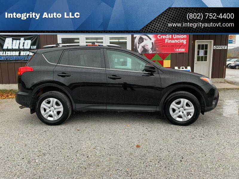 2015 Toyota RAV4 for sale at Integrity Auto LLC in Sheldon VT