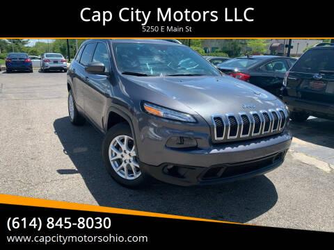 2017 Jeep Cherokee for sale at Cap City Motors LLC in Columbus OH